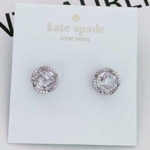 Kate Spade Pavé &Large Crystal Round Stud Earrings